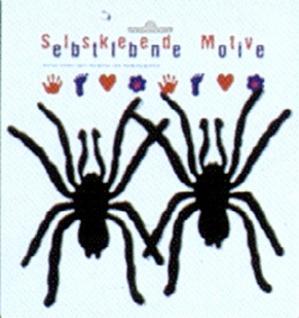 5728 Blatt mit 2 schwarzen Spinnen aus Filz, selbstklebend, 20 x 21