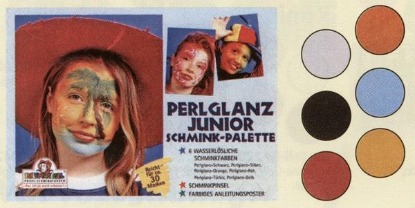 es206027 Perlglanz Junior Schmink Palette, mit den 3, 5ml Farben: Perlglanz Perlmutt, Pe