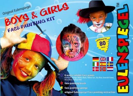 es208106 Boys & Girls Face Painting Kit, - Vorschau