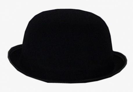 Hut aus Filz 1956 Englischer Bowler (Herren Melone), in schwarz, mit