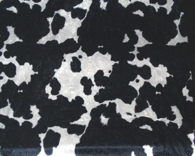 1478 Pannesamt mit Kuhhaut Aufdruck in schwarz/weiß, 1
