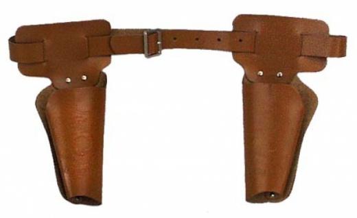 """6373 Cowboygürtel """" Rodeo"""" mit 2 losen Taschen, braune Lede"""