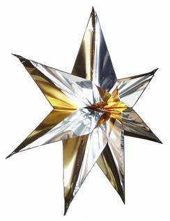 7105 Stern aus PVC, ca. 66cm Durchmesser, zweifarbig: silber mit: ro