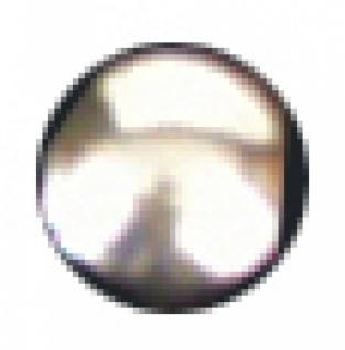 6495 glatter Knopf, flach und rund, 10mm Ø, aus silberfarbene