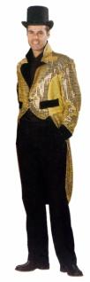 6027 Showfrack, Pailetten mit Lurex, gold, schwarz gefüttert, mit schwar