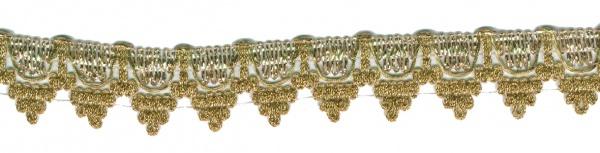1449 gewellte Lurex Borte, in gold und silberfarben, 3cm breit, P