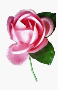 23606 Taft Rose mit zwei Blättern, 80mm groß, in gelb und rosa...