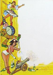 "7420 Karneval Plakat, "" Kavallerie"", 42x59cm groß"