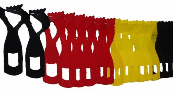 72801 Flaschen Girlande, 97x335mm groß, 4m lang, in rot gelb schwarz