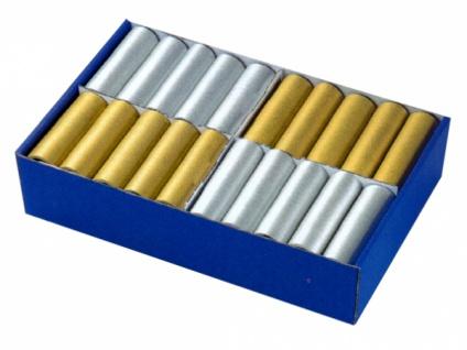 68633 18 Luftschlangen in gold oder silber, 4m lang, in 1 Rolle