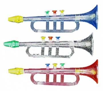 2634 1 Transparente Trompete, 30 cm groß, nur noch in weiß transpare