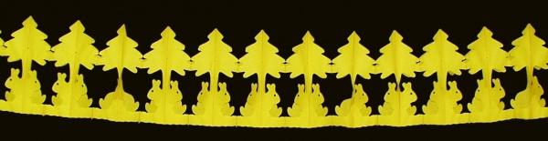 988240 Gelbe Osterhasengirlande, 3, 65m lang, 12, 5x20cm groß..
