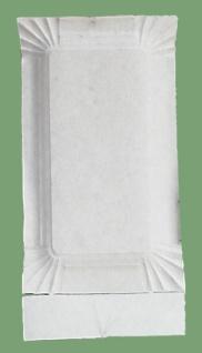 75011 250 Stück Pappteller, viereckig, flach, mit 1cm erhobenem Rand