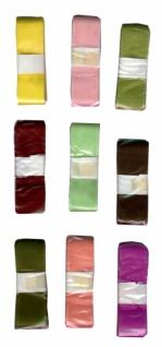 7605 1 Stück einfarbiges Florband, 25mm breit, 3m lang, i
