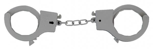 6458 Graue Handschellen aus Plastik...