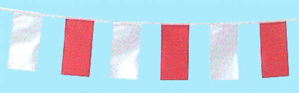 7243 Fahnenkette: Stoffband mit 16 Fahnen aus Plastik, davon abwechselnd 8 rote und 8 weiße, 4m la - Vorschau 2