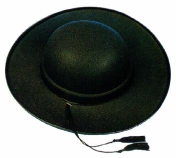 Hut aus Filz 19750 Pater Brown, in schwarz, ca. 42cm Durchmesser, ca