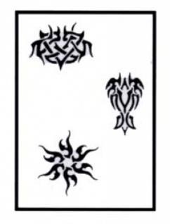 es456033 Tattooschablone Runes