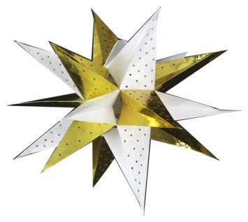 821922 Weihnachtsstern aus Pappe, 18 strahlig, für Beleuchtung bis 2