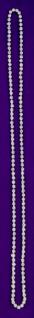 11943 Einfaches Collier, ca.80cm lang, 145 Similisteine...