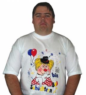 58636 Weißes T Shirt, 100 % Baumwolle, mit 1/4 Arm, mit Aufdruck: bu