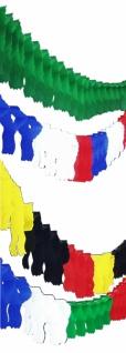 72120 Fahnengirlande, ca. 3, 65m lang, ca. 7, 6x33cm, in rot, gelb, bl