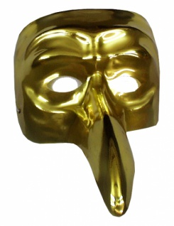 3067 Maske im venezianischen Stil, goldfarben...