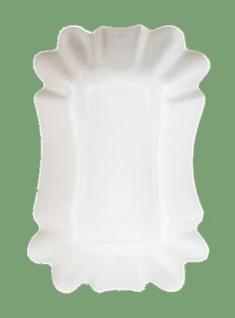 750422 10 Stück Eckige Pappschalen, 9x14x3cm groß, für Salate, Gulas