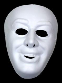 3070 Weiße Männer Maske zum selbst bemalen aus Plastik...