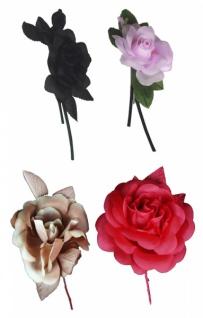 23600 Große Rose mit Blatt, in braun und schwarz...