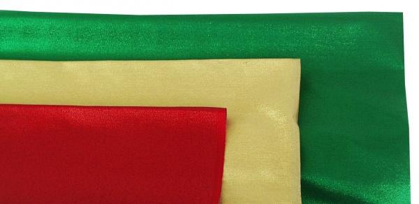 14724 dünner Lurex, 140cm breit, einfarbig in gold, silber, rot, kup
