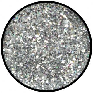 es902189 Silber Juwel (grob), holografischer Glitzer...