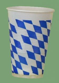 75151 100 Stück Plastikbecher mit Bayernrauten verziert, für 0, 2l Ge