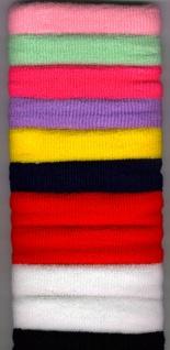 1314 Langes, einfarbiges Haarband aus Frottee, ca. 9cm breit, in schwarz, weiß, rot, gelb, dunkelb