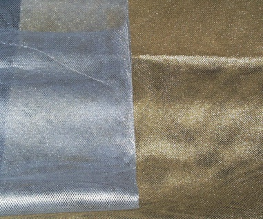 14718 Lurex Tüll, 140cm breit, in gold und silber, Preis per lfd. Me