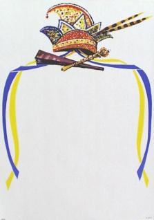 """7417 Karneval Plakat, """" Prinzenmütze"""", 42x59cm groß"""