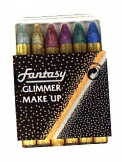 28532 Karneval Schmink Stifte mit Glitter, sechs Farbstifte in Kästc
