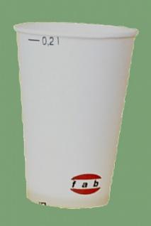 751604 10 Stück Trinkbecher aus Pappe für 0, 2l Getränke, weiß