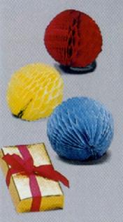 """8572 Goldene """" Geschenkbox"""" mit roter Schleife, mit 3 herau - Vorschau"""