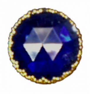 1297 Fingerring aus Plastik in gold oder silber mit hellblauem, rosa oder lila Stein, je nach Form