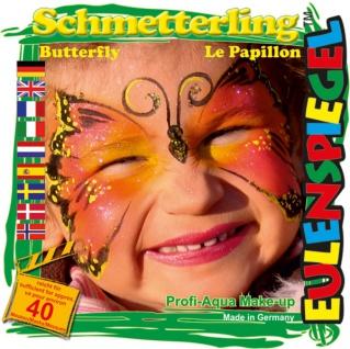 Schmink Set es204511 Motiv Set Schmetterling