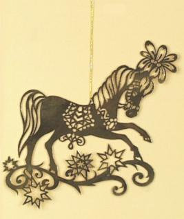 8235 Baumbehang: 1 Pferd aus Messing, flache Stanzfigur, 11x11cm gro