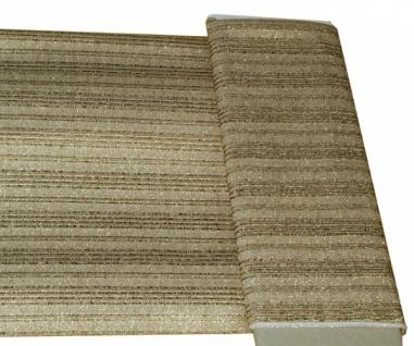 14723 Lurex, goldfarben mit Streifen, 90cm breit, Preis per lfd. Met
