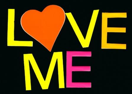 """5733 Schriftsatz """" Love Me"""", einzelne Neon Buchstaben, ca."""