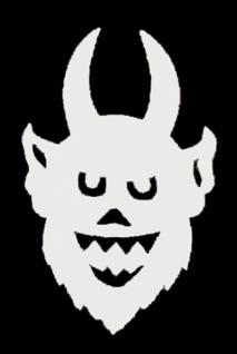 56361 Filz Teufel, 17x10, 5 cm groß, weiß, selbstklebend...