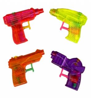 6784 Wasserpistole, 9 cm groß, in gelb, lila, orange und rosa