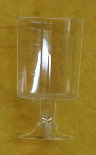 751804 20 Stück Schnapsgläser mit Fuß, aus glasklarem Plastik, für 0