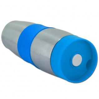 Cenocco CC-6000: Edelstahl-Vakuumreisebecher Blau