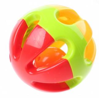 Rassel Baby Rattles Ball 10 cm rot / grün / gelb - Vorschau