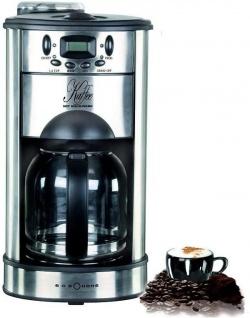 Kaffeemaschine mit Mahlwerk Edelstahl 1000 Watt